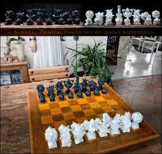 unique surreal fractal chess set shapeways 3d printing forums