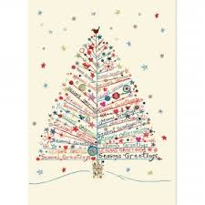 season s greetings tree large boxed cards