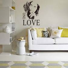 marley one love quote wall decal bob marley one love quote wall decal