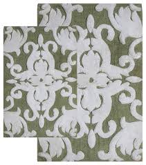 bath mats set 2 iron gate scroll bath rug set contemporary bath mats
