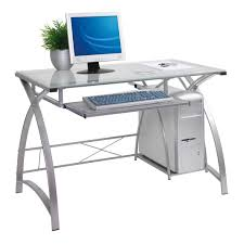 Metal And Glass Computer Desks Small Glass Computer Table Clear Glass Desk L Shaped Glass