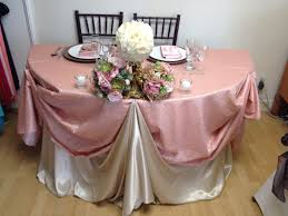 dusty rose table runner chagne and dusty rose sequin table runner for a sweetheart table