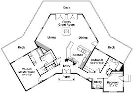 house plans with vaulted great room plan 72494da hexagonal house plan with vaulted great room