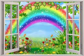 kids room design extraordinary rainbow wallpaper for kids room