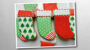 how to decorate christmas stocking cookies youtube
