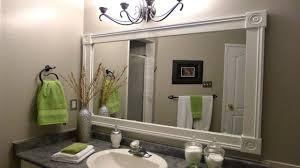 bathroom mirror trim ideas diy framing bathroom mirror