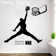 chambre basketball sports poster basketball wall stickers no 23 michael slam
