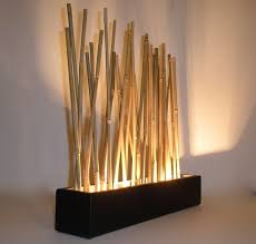 Home Decor Japanese Style Hand Crafted Bamboo Led Mood Lighting Modern Japanese Style