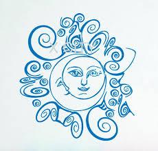 crescent moon sun sky wall decals vinyl sticker boho