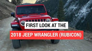 jeep wrangler lineup 2018 jeep wrangler rubicon revealed video autoblog