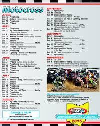 motocross racing tv schedule 2015 cra schedule pitracer com