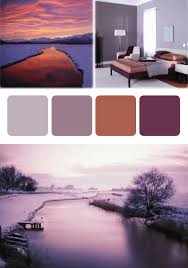 Make Purple Paint Make The Stunning Winter Sunset The Source Of Your Color