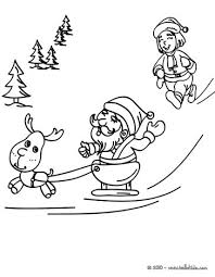 santa claus rudolph coloring pages hellokids