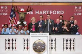 bell rings red images The hartford rings closing bell at new york stock exchange on nov jpg