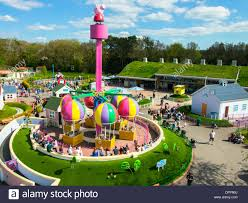 peppa pig world paultons park romsey hampshire stock photo