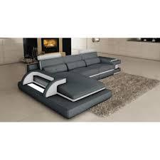 canapé d angle en cuir design canapé d angle cuir gris et blanc design avec lumière ibiza angle