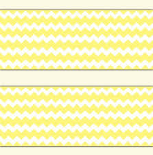 yellow chevron wallpaper border wall decal baby boy gender