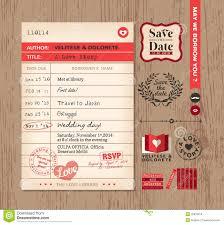 Design Card Wedding Invitation Library Card Wedding Invitation Design Background Stock Vector