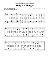 away in a manger voice satb sheet cantorion free