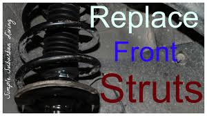 how to install front struts chevy traverse gmc acadia buick