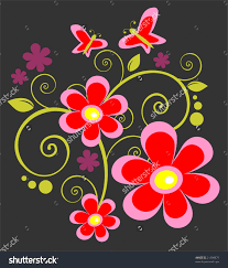 cartoon pictures of butterflies and flowers free cartoon pictures