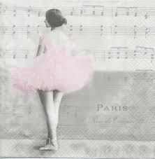serviette en papier vintage 2 serviettes papier ballet paris passioncreationcollection