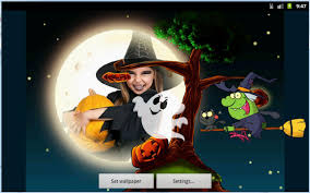 halloween kids photo live wallpaper android apps on google play