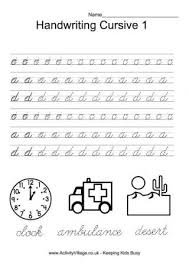 abc dot cursive handwriting worksheets worksheet pinterest