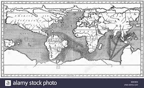 Ocean Currents Map Cartography World Maps Physical Map With Description Of Ocean