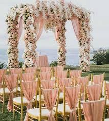 Wedding Arch Design Ideas 40 Rose Gold Metallic Wedding Color Ideas Metallic Wedding