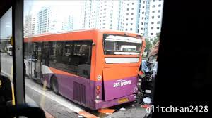 volvo trucks singapore sbst bus rear ended by truck accident aftermath singapore youtube
