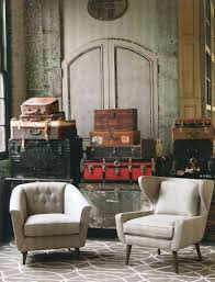 Interior Cool Industrial Room Decor With Industrial Suitcase As