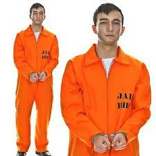 orange jumpsuit convict inmate prisoner jailbird costume orange jumpsuit