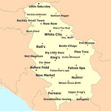 serbian city town village names translated into english serbia