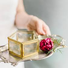 shabby chic crystal ring holder images Wedding ring box ring bearer box geometric ring box geometric jpg