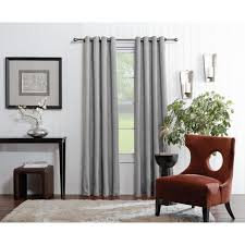 Allen And Roth Blinds Shop Allen Roth Merriby 95 In Gray Polyester Grommet Light
