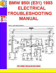 bmw 850i e31 1992 1993 electrical troubleshooting manual downlo