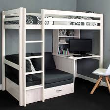 High Sleeper With Futon Thuka Hit 9 High Sleeper Bed With Desk Sofa Bed Below Family