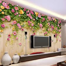 online get cheap wallpaper green aliexpress com alibaba group custom mural wallpaper green vine butterfly rose flower wood board backdrop decoration painting mural living room