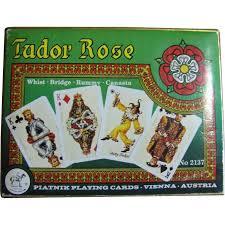 piatnik tudor cards 2 decks boxed 2137 mint