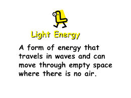 Is Light Energy Types Of Energy