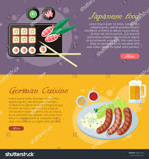 id d o cuisine national culinary delights japanese food german stock vector