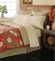 Tropical Comforter Sets King Essential Home Complete Bed Set Hibiscus Garden Home Bed