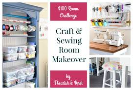 craft u0026 sewing space reveal diy home decor 100 room challenge