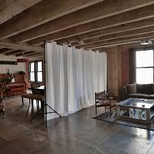 loft room dividers roomdividersnow muslin room divider curtain panel walmart com