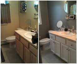Painting Vs Staining Kitchen Cabinets Painting Bathroom Vanity Gray