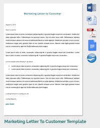 14 marketing letter templates u2013 free sample example format