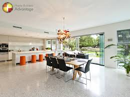 kitchen floor living room with polished concrete floors kitchen