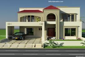 3d front elevation com 1 kanal plot house design europen style in