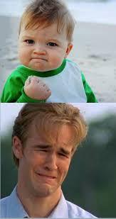 Success Kid Meme Maker - happy sad success kid crying 90s guy blank template imgflip